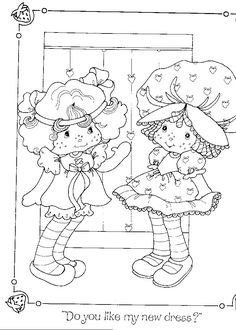 USED COLORING BOOKStrawberry Shortcake And Her Friends