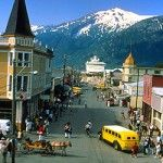 Skagway, Alaska.  This is my favorite town in Alaska.  I've been to Alaska twice & would go again tomorrow if I could!