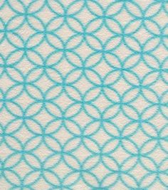 Anti-Pill Fleece Fabric Linked Circles