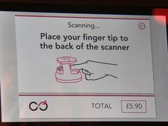 Imagine paying for dinner or groceries with a fingerprint.  No phone.  No wallet.  Just a fingerprint.  A new biometric verfication method, let's call it Finger Pay, could be the new payments frontier.  Click the photo to read about a London bar that is doing this TODAY.