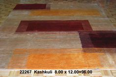 Kashkuli, 8 x 12 by A Rug For All Reasons   While this rug was constructed with natural-dyed, handspun wool and hand knotting -- centuries-old techniques -- it obviously has a very contemporary look that would look great in many of today's elegant but simple-design homes. Kashkuli rugs (or Qashgai) and Gabbeh rugs are no longer being imported from Iran so they've become rare and diifficult to obtain. We feel fortunately to be able to present these to our customers.