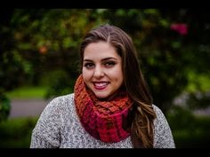 Bufanda infinita tejida a crochet Punto Petalos esparcidos 002 - YouTube