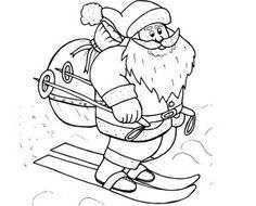 Omaľovánka na vytlačenie Santa, Christmas, Traveling, Sketch, Kebab Recipes, Xmas, Viajes, Sketch Drawing, Navidad