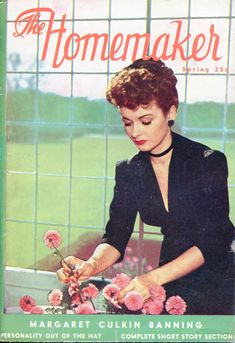 The beautiful spring 1946 cover of The Homemaker magazine. #vintage #1940s #homemaker