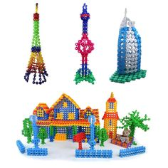 Brand New 400 pcs Multicolor Kids Snowflake Building Puzzle Blocks Educational Xmas Toys Bricks DIY Assembling Classic Toy #clothing,#shoes,#jewelry,#women,#men,#hats,#watches,#belts,#fashion,#style