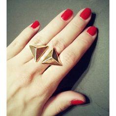 Кольцо - треугольники $15.74 Heart Ring, Enamel, Watch, Rings, Accessories, Jewelry, Products, Vitreous Enamel, Clock