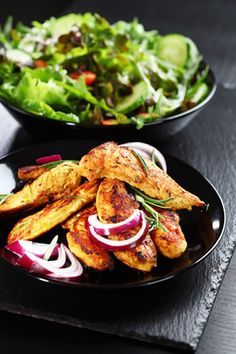 #chicken #marinades #sauces The chicken in the picture is garnished with red onion, and served with a delicious homemade salad. This marinade can be used on chicken pie...