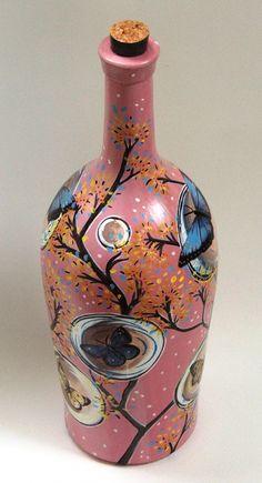 Botella pintada - Adornos - Casa - 513693