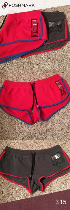 Victoria Secrets Pink shorts Victoria Secrets pink shorts. Selling both together for one price. Cotton/polyester PINK Victoria's Secret Shorts