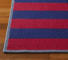Tailored Striped Rug #PotteryBarnKids | Boys Bathroom | Pinterest ...