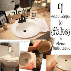 How to {fake} a Clean Bathroom (Quick Cleaning Tips)