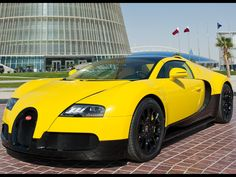 2012 Bugatti Veyron Grand Sport Black & Yellow at Qatar $ 2,070,773