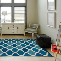 Hand-tufted Logan Cobalt Blue Wool Rug (3'6 x 5'6) | Overstock™ Shopping - Great Deals on Alexander Home 3x5 - 4x6 Rugs