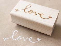wooden rubber stamp by minna_may Diy Stamps, Love Stamps, Custom Stamps, Planners, Make Your Own Stamp, Stamp Carving, All You Need Is Love, Illustrations, Love Letters