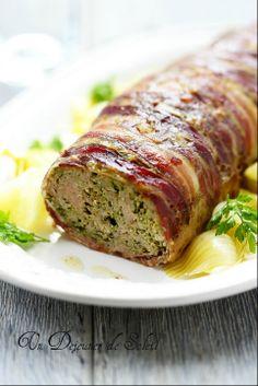 Polpettone (pain de viande) d'agneau aux herbes et pancetta