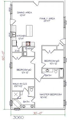 40x60 Barndominium Exterior