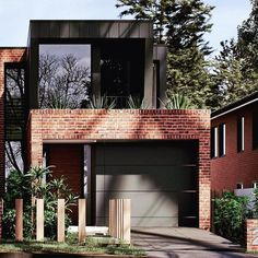 Dream house plans - Modern House Design Our house Modern Brick House, Modern House Plans, Modern House Design, Duplex Design, Dream House Exterior, Dream House Plans, Modern Exterior, Exterior Design, Black Exterior