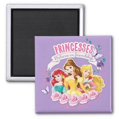 Princesses Believe in Friendship 1 Refrigerator Magnets