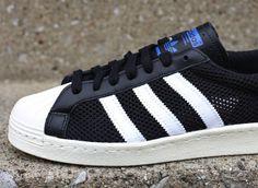 adidas Originals Superstar 80s Black Mesh