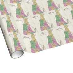 Vintage Map of New Hampshire (1827) Wrapping Paper $16.95. Just in time for Christmas!