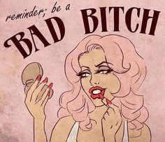 """Daily reminder: be a BAD BITCH💕 """"Say no harm, but take no shit."""" Being a bad bitch is the balance between kindness & holding respect. What does being a bad bitch mean to you? Artist unknown, please tag if you do! Motivacional Quotes, Moon Quotes, Random Quotes, Under Your Spell, Veronica Lake, Arte Pop, Pink Aesthetic, Aesthetic Indie, Girl Power"""