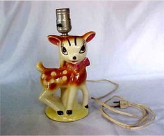Vintage Bambi Disney Deer Lamp by OldRiches on Etsy, $14.99