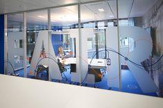 #easyCredit_de #TeamBank #Fair #blue #officedesign Work Life Balance, Basketball Court, Design, Architecture