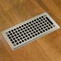 Egg Crate 4 In X 10 In Steel Floor Register In Brushed