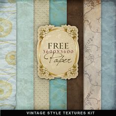 New Freebies Vintage Style Papers Kit