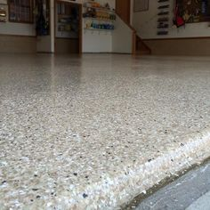Rhino Linings of Ocean County. Here is a close-up shot of the garage floor in West Creek, NJ that we coated we Rhino HomePro in the color sandstone. 3 Car Garage, Outdoor Flooring, Home Improvement, Home Repair, Home Improvements, Interior Decorating, Home Improvement Projects, Home Remodeling