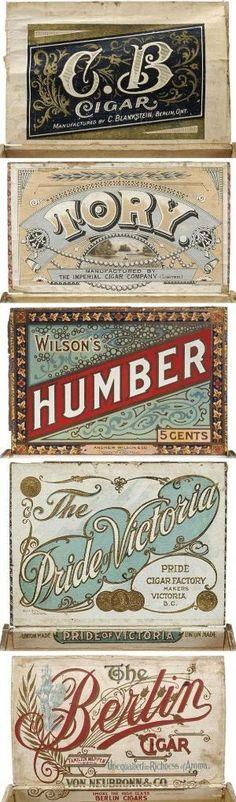 Cigar Box Labels by juliana