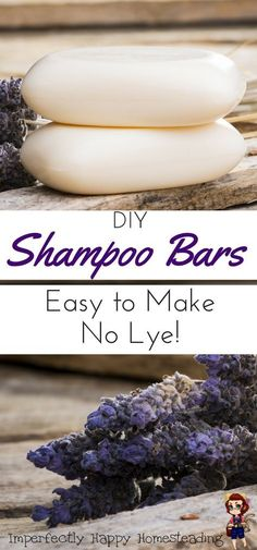 Easy to Make DIY Shampoo Bars, no lye to deal with!