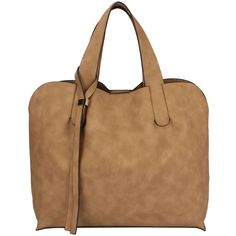 Sassysac Tote, Tan ($38) via Polyvore featuring bags, handbags and tote bags