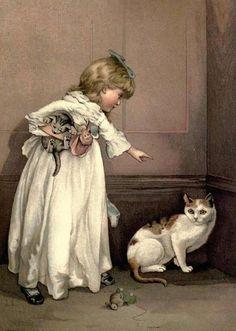 Lizzie Lawson (1867 – 1902, English)  Puss In The Corner