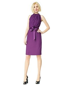 Frida - grape. Poly crepe satin. Has a crepe and a shiny side, lovely combined in this dress.