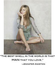 And I bet Brad Pitt smelled wonderful! Hahaha