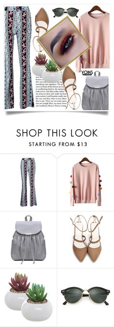 """Yoins"" by yoinscollection ❤ liked on Polyvore featuring Ray-Ban, chic, yoins, loveyoins and oinsCollection"