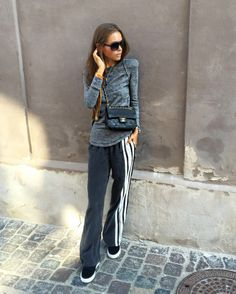 Maria Kragmann in Axel Arigato slip-on sneakers, Isabel Marant top and Chanel sunglasses. #axelarigato