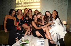 Let's party! Selena has been busy as she got a kiss from her best pal Taylor Swift as they celebrated Taylor's MTV VMAs wins at theRepublic Records afterparty at Ysabel in Los Angeles on Sunday