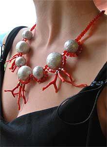 Funky Jewelry, Coral Jewelry, Handmade Beaded Jewelry, Fashion Jewelry Necklaces, Beach Jewelry, Boho Jewelry, Jewelry Crafts, Jewelry Design, Jewellery