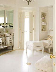 House Beautiful Bathroom Vanities White bathroom with freestanding bathtub @ http://www.amazon.com/dp/B01C5YDNHK