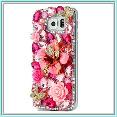"""<span+style=""""color:+red;""""><strong>Worth+*16*+Cool+Points!</span></strong>  Item+1670  Galaxy+S6+-+Pink+Hibiscus,+Feather+Mask+or+Peacock+Case  <b>-+Specialty:</b>+Incredibly+stunning,+handmade+cases+with+sparkling,+vibrant+gems+and+ornaments+for+every+occasion.  <u>Features:</u>  Brand:..."""