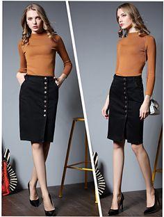 7c637774069 TIC-TEC womens skirt large size S-6XL denim skirts womens vintage fashion  pencil