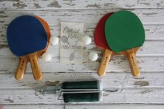 vintage table tennis set / retro ping pong game by wretchedshekels,   www.etsy.com/shop/wretchedshekels