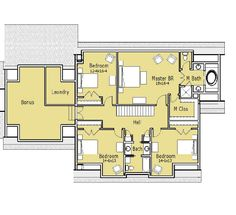 Dutch Colonial House Plans with Modern Touch: Brown Roof White ...
