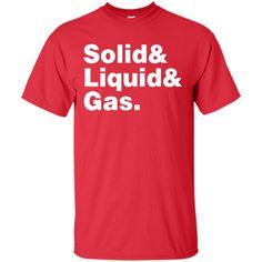 States of Matter Helvetica T-Shirt