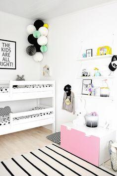 lastenhuone,moderni,kerrossänky,seinähylly,säilytys