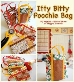 Moda Bake Shop: Itty Bitty Poochie Bag  #modabakeshop #modafabrics #lovepinwin