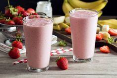 Erdbeer-Banane-Kokos-Smoothie