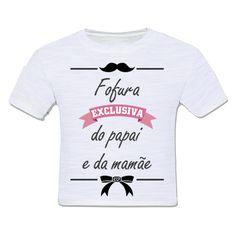 camiseta infantil moda criança fofura exclusiva do papai e da mamãe frases divertido vintage